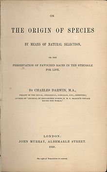 The Origin of Species On the Origin of Species by Means of Natural Selection, title page