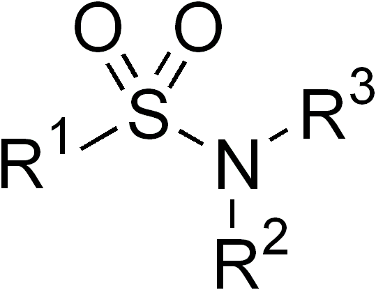 general chemical structure of a sulfonamide