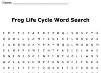 Frog Life Cycle Wrod Search