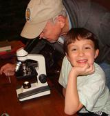 Viewing specimens through a microscope is fun for children of all ages!