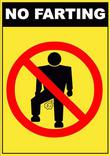 No Farting Sign