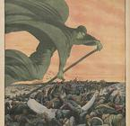 1912 Drawing Where Cholera is Represented by the Grim Reaper