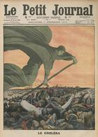 1912 Journal Cover With Cholera Depicted as Grim REaper