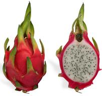 A Red Pitaya Hylocereus Undatus Fruit Also Known As Dragonfruit Together With